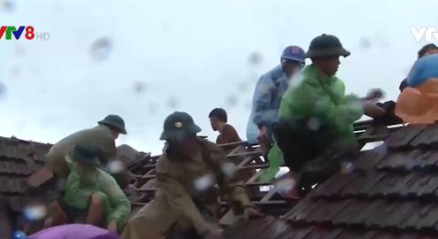 Hà Tĩnh khắc phục thiệt hại do bão số 13 gây ra
