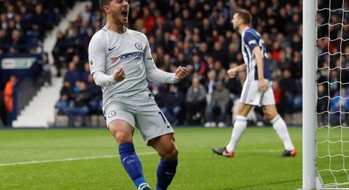 Thắng đậm West Brom, Chelsea tạm vươn lên ngôi nhì bảng