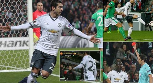 Mkhitaryan ghi bàn duy nhất giúp Man Utd tiến vào vòng 1/8 Europa League