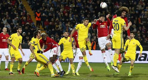 Kết quả lượt đi vòng 1/8 Europa League: Rostov 1-1 Man Utd, Lyon 4-2 AS Roma...