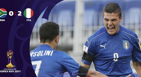 Kết quả FIFA U20 thế giới 2017: U20 Italia giành chiến thắng đầu tiên