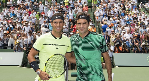 Ảnh: Roger Federer đánh bại Nadal để giành ngôi vô địch Miami mở rộng 2017