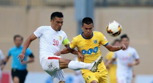 Vòng 15 giải VĐQG V.League 2017: Hải Phòng 3-2 Long An, CLB TP Hồ Chí Minh 0-0 FLC Thanh Hoá, B.Bình Dương 1-3 CLB Sài Gòn, Than Quảng Ninh 2-1 Sanna Khánh Hòa, Quảng Nam 3-3 SLNA