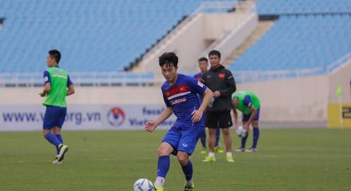 ẢNH: ĐT U22 Việt Nam tích cực tập sút chờ đối đầu Tuyển các ngôi sao K-League