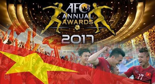 VFF nhận 2 đề cử giải thưởng năm 2017 của bóng đá châu Á