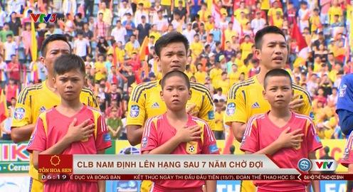 CLB Nam Định và cảm xúc trong ngày trở lại giải VĐQG V.League