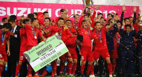 Không khí ăn mừng ĐT Việt Nam của chúng ta vô địch AFF Suzuki Cup 2018