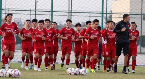 ẢNH: Buổi tập đầu tiên của ĐT Việt Nam tại Qatar chuẩn bị cho Asian Cup 2019