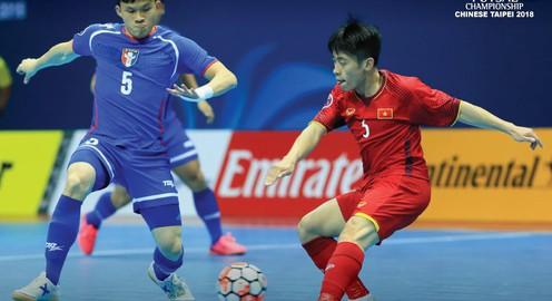 Giành chiến thắng trước Đài Bắc Trung Hoa, futsal Việt Nam gặp Uzbekistan ở tứ kết