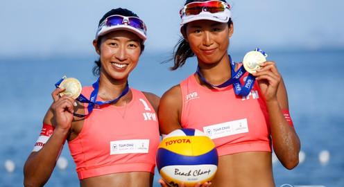 Giải bóng chuyền bãi biển nữ thế giới - Tuần Châu Hạ Long mở rộng 2018: Các VĐV Nhật Bản thể hiện sức mạnh tuyệt đối