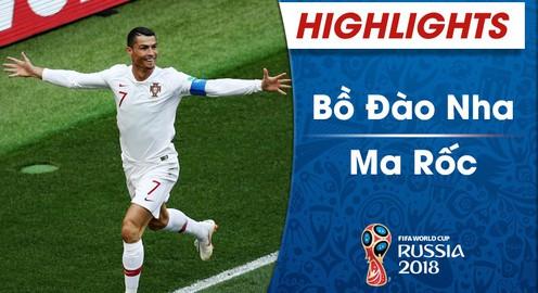 HIGHLIGHTS ĐT Bồ Đào Nha 1-0 ĐT Ma-rốc (FIFA World Cup™ 2018)
