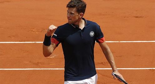 Vượt qua Zverev, Dominic Thiem giành quyền vào bán kết giải Pháp mở rộng 2018