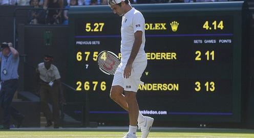 Thua ngược Anderson, Federer dừng bước ở tứ kết Wimbledon 2018