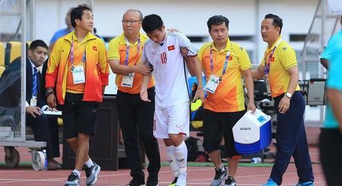 Phóng viên Thể Thao VTV tác nghiệp tại ASIAD 2018: Tiền vệ Đỗ Hùng Dũng phải nghỉ thi đấu ít nhất 6 tuần