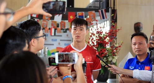 """Duy Mạnh: """"Olympic Việt Nam xứng đáng với chiến thắng trước Olympic Nhật Bản"""""""