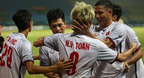 ẢNH: Olympic Việt Nam thắng ngoạn mục Olympic Syria, giành quyền vào bán kết ASIAD 2018