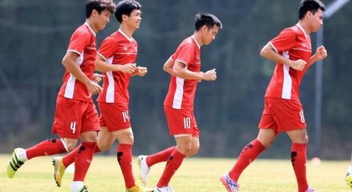 ẢNH: Olympic Việt Nam luyện tập, sẵn sàng tranh HCĐ ASIAD cùng Olympic UAE