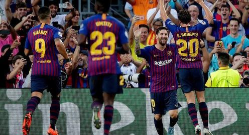 Kết quả lượt trận vòng bảng Champions League rạng sáng 19/9: Barcelona hủy diệt PSV Eindhoven, Liverpool thắng kịch tính PSG