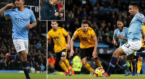 VIDEO Man City 3-0 Wolverhampton: Gabriel Jesus tỏa sáng!