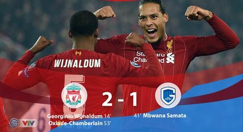 Liverpool 2-1 Genk: Thắng nhẹ nhàng, The Kop vươn lên giữ ngôi đầu bảng E