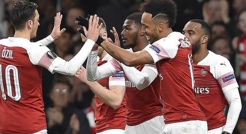 Kết quả lượt về vòng 1/8 Europa League: Arsenal, Chelsea vào tứ kết với những chiến thắng đậm