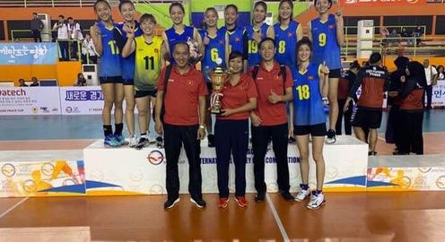 Bóng chuyền nữ U23 Việt Nam giành chức vô địch Asian Peace Cup 2019