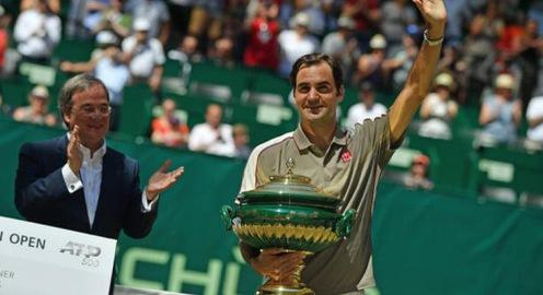 Roger Federer hài lòng với phong độ trước thềm Wimbledon