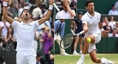 Novak Djokovic 3-0 (6/4, 6/0, 6/2) David Goffin: Dễ dàng tiến vào bán kết Wimbledon 2019