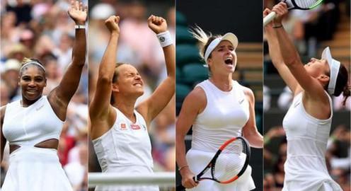 Lịch thi đấu bán kết đơn nữ Wimbledon 2019: Svitolina – Simona Halep, Serena Williams – Strycova