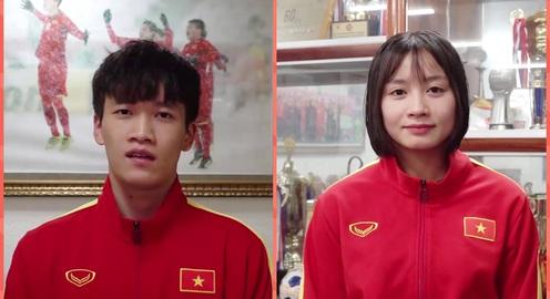 U22 Việt Nam và ĐT nữ Việt Nam gửi lời chúc Tết Canh Tý 2020 tới người hâm mộ