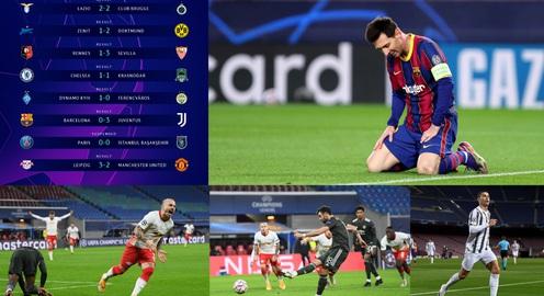 Kết quả Champions League sáng 9/12: Man Utd bị loại, Juventus thắng đậm Barcelona