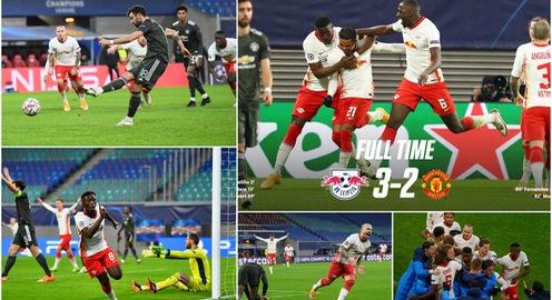 Champions League: Thua Leipzig, Man Utd bị loại và phải xuống chơi ở Europa League