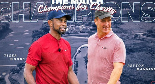 "Tiger Woods và Peyton Manning thắng ""The Match: Champions for Charity"""