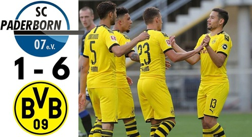 VIDEO Highlight: Paderborn 1-6 Dortmund (Vòng 29 bóng đá Đức Bundesliga)