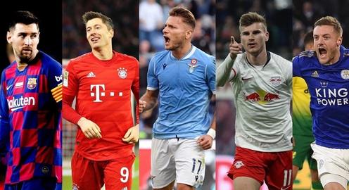 Cuộc đua Chiếc giày vàng châu Âu 2019/2020: Lewandowski đang dẫn đầu, Messi và Ronaldo không có trong top 3