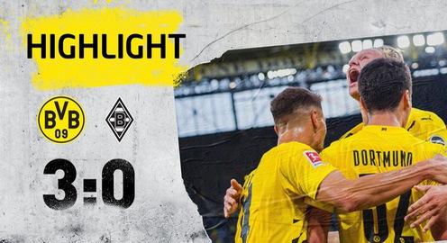VIDEO Highlights: Dortmund 3-0 M'gladbach (Vòng 1 Bundesliga 2020-21)