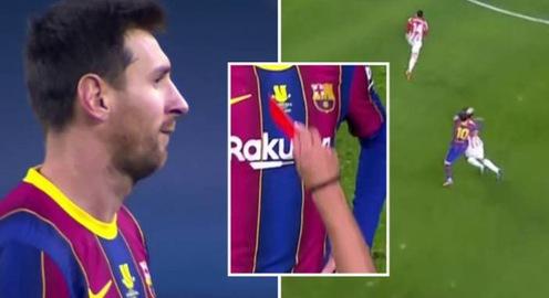 Messi lần đầu tiên nhận thẻ đỏ tại Barcelona