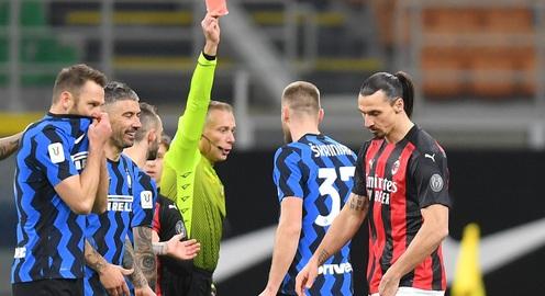 Inter Milan 2-1 AC Milan: Chiếc thẻ đỏ tai hại của Ibrahimovic