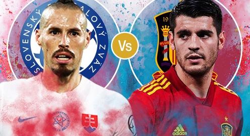 Slovakia - Tây Ban Nha: Quyết chiến thắng để giành vé vào vòng 1/8 | Bảng E UEFA EURO 2020