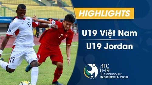 HIGHLIGHTS: U19 Việt Nam 1-2 U19 Jordan (VCK U19 châu Á 2018)