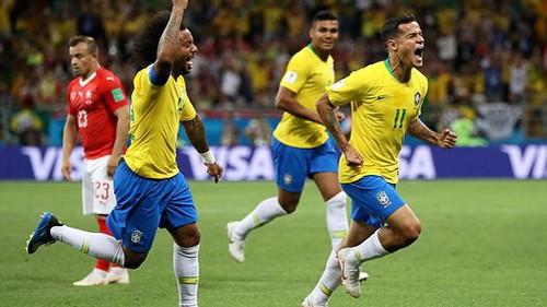 Brazil 1-0 Thụy Sĩ: Coutinho mở tỷ số bằng bàn thắng đẹp mắt (FIFA World Cup™ 2018)