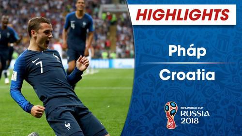 HIGHLIGHTS ĐT Pháp 4-2 ĐT Croatia (Chung kết FIFA World Cup™ 2018)