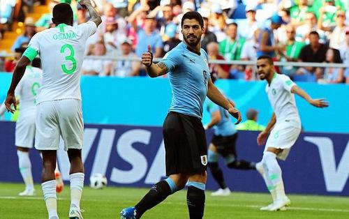 Kết quả FIFA World Cup™ 2018, ĐT Uruguay 1-0 ĐT Saudi Arabia: Luis Suarez có bàn thắng đầu tiên