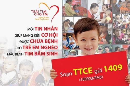 """Chung tay hỗ trợ trẻ em nghèo bệnh tim với chương trình """"Trái tim cho em"""""""