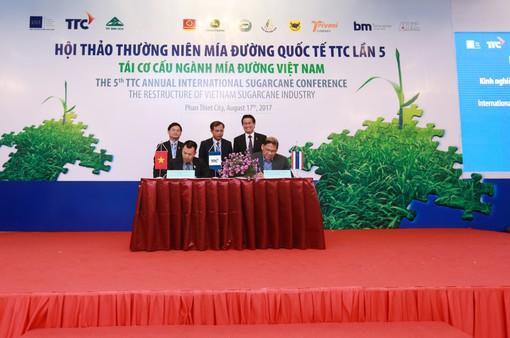 TTC ký kết Biên bản ghi nhớ với Tập đoàn Mitr Phol và Viện nghiên cứu mía đường Vasantdada