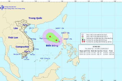 Chủ động ứng phó với áp thấp nhiệt đới