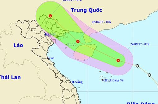 Áp thấp nhiệt đới hướng vào đất liền miền Bắc