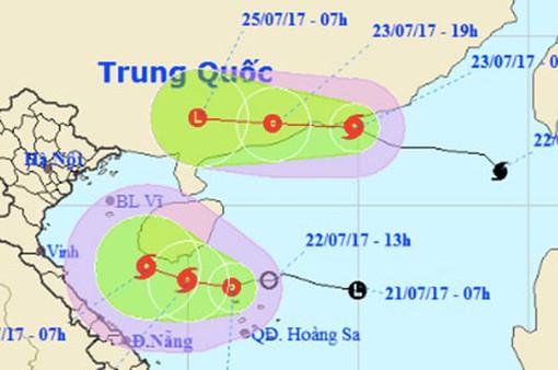Áp thấp nhiệt đới mạnh lên thành bão trên Biển Đông