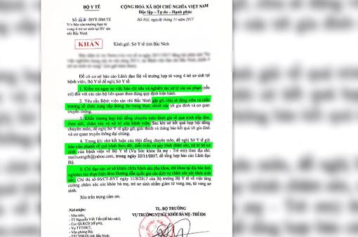Vụ 4 trẻ sơ sinh tử vong tại Bắc Ninh: Bộ Y tế yêu cầu lập Hội đồng chuyên môn