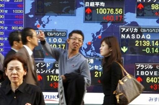 Chứng khoán châu Á tăng mạnh nhất 2 năm